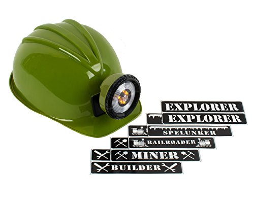 Light-up Hard Hat Including Miner, Railroader, Builder and Spelunker Helmet Labels (Army (Army Label)