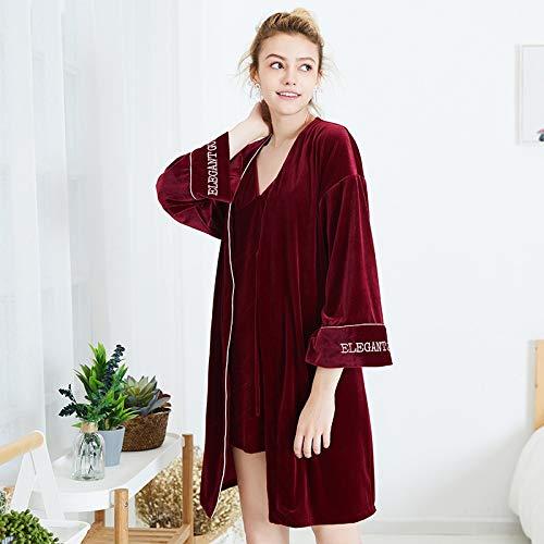 Guomao Pijamas De Las Mujeres Túnica De Terciopelo Honda Piezas De ...