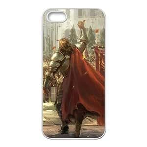 Caballeros del Ejército Medieval iPhone 5 la caja del teléfono celular 5s funda blanca del teléfono celular Funda Cubierta EOKXLKNBC06947