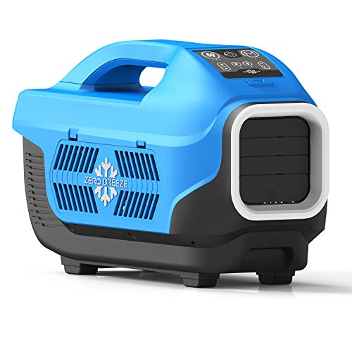 Zero Breeze Z19 Portable Air Conditioner for Outdoors, Micro AC Compressor, USB Charging and LED Light, for 1-4 Person Camping Tent, RV, Van, Picnic and Beachside (Without Battery)