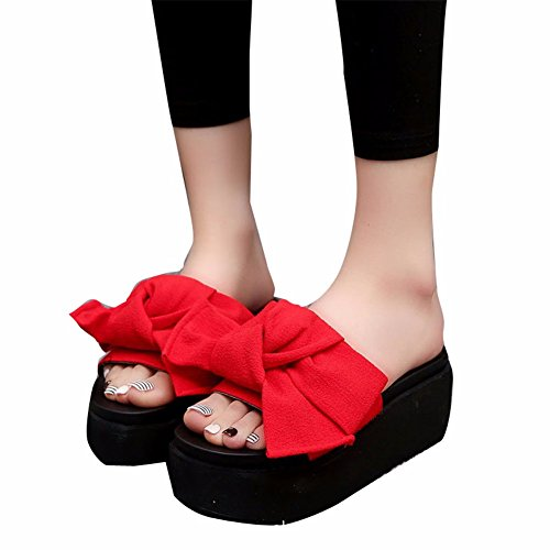 Arc Quotidienne Heeled Sandales Chaussons High Dame Dame red YUCH 6wAztBF