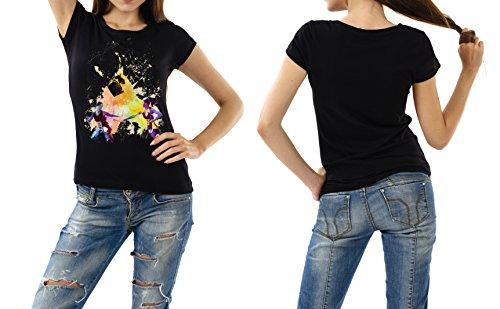 Staffellauf_I schwarzes modernes Damen / Frauen T-Shirt mit stylischen Aufdruck