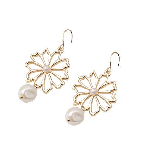 - CCFAMILY Ladies Creative Earrings Network Red Metal Irregular Shaped Beads Geometric Hypoallergenic Earring Girls Women Jewelry Gift