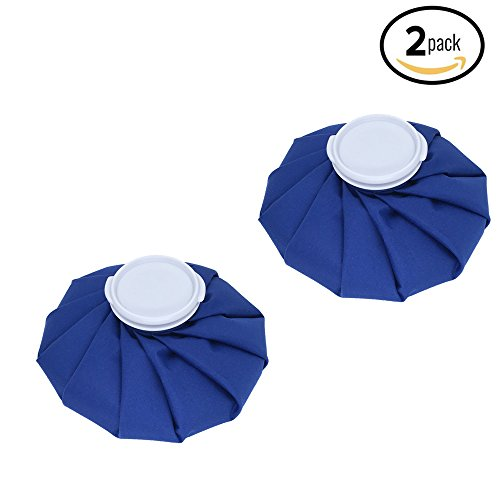 Koo-Care Pain Relief Hot Cold Therapy Reusable Ice Bag Pack for Head, Shoulder, Back, Knee, ankle etc. (9', Dark Blue,Set of 2)