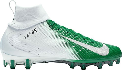 NIKE Men's Vapor Untouchable 3 Pro Football Cleats (11, White/Green)