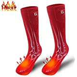 Autocastle Novelty Electric Rechargeable Battery Heated Socks Kit for Chronically Cold Feet, Women's Original Outdoor Indoor Exercise Sport Foot Warmer,Battery Powered Climbing Hiking Thermal Socks