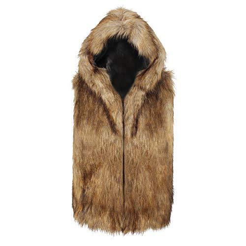 - Gift Ideas!!! Teresamoon Men Faux Fur Vest Jacket Sleeveless Winter Body Warm Coat Hooded Waistcoat Gilet