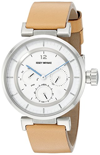ISSEY MIYAKE Women's SILAAB03 W mini Analog Display Quartz Brown Watch