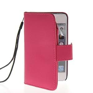 SHOPPINGBOX Cartera Funda Carcasa Caso Cuero Tapa Flip Case Cover Para Apple iPhone 5 5G 5S Rosa