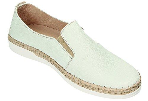 Flot de à Chaussures Ville Weiß Weiß Femme Lacets Fly pour A71pqww4