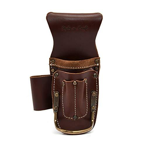 - Style n Craft 98016 5 Pocket Pliers & Hammer Holder in Dark Tan Top Grain Leather