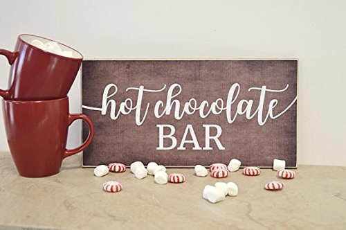 Hot Chocolate Bar Sign, Farmhouse Sign, Wedding Decoration Idea, Birthday Party Decoration, Bridal Shower, Baby Shower Decoration, Wood -