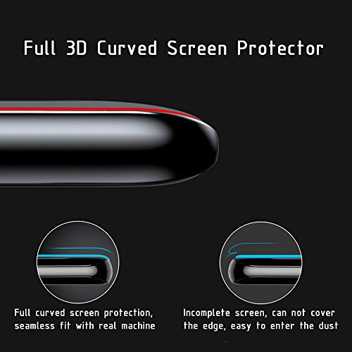 Galaxy S8 Screen Protector [Full Glue] [3D Curved Edge] [Anti-Scratch] [Auti-fingerprint] [High Definition] [9H Hardness] Tempered Glass Screen Protector for Samsung Galaxy S8- Black by ClarksZone (Image #2)