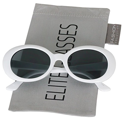 Clout Goggles Oval Hypebeast Eyewear Supreme Glasses Cool Sunglasses (Thin Frame White, -