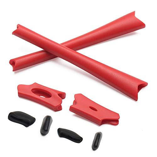 (PapaViva Replacement Rubber Kits for Oakley Flak Jacket/Flak Jacket XLJ - Red)