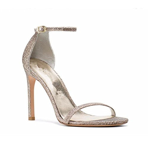 Colore Open Donna Straps 33 Sutura Nude Candy Tacco Fibbia Color Una Estate Stage Con Highxe Stiletto Foot Toe 37 Alto Ed Cintura Parola Sandali Gold Pump Show Della Da Primavera YxCUYZq7w
