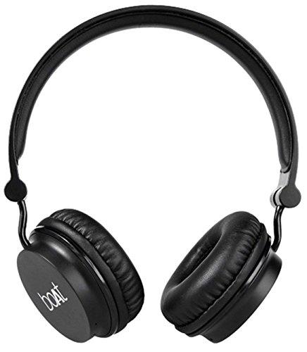 Boat Rockerz 400 On-Ear Bluetooth Headphone (Black)