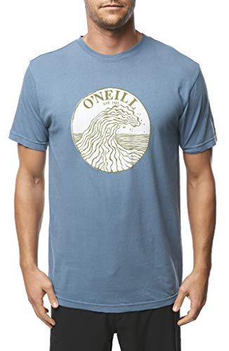 O'Neill Men's Heritage Short Sleeve Tee Shirt (Mid Blue/Waver Saver, Large) ()