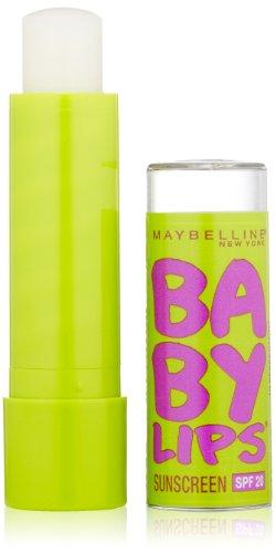 Maybelline New York Baby Lips Moisturizing Lip Balm, Peppermint, 0.15 (0.15 Ounce Balm)