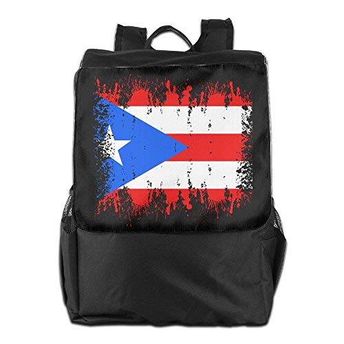 Rico Laptop College Backpack School Bookbag Puerto Travel Distressed Hgfdhfgjrfj Men Flag Women zEYYw6