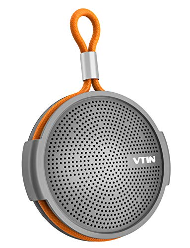 Vtin SoundHot Q1 Waterproof Bluetooth Speaker, Portable Bluetooth Speaker with Loud HD Sound,10H Playtime Mini Shower Speaker with Suction Cup, Built in Mic for Outdoor Sports, Pool, Beach, Hiking
