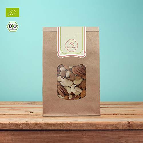 süssundclever.de® Bio Nussmischung | Mandel-Paranuss | 1 kg | mit Cashewkernen | plastikfrei und ökologisch-nachhaltig abgepackt