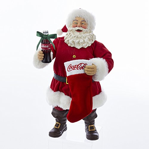Kurt Adler CC5172 Santa with Coke Bottle and Stocking - Season Coke Bottle