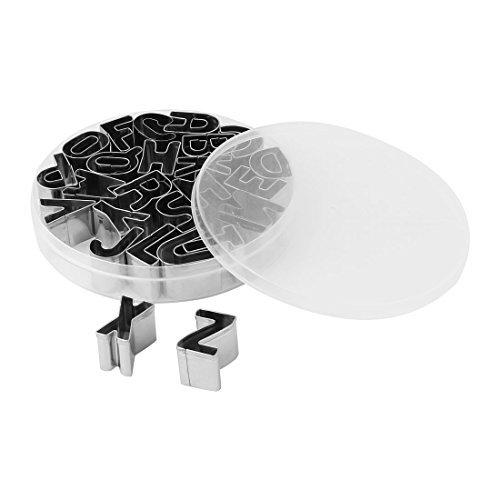 eDealMax cucina in Acciaio inossidabile da Forno di Figura Delle lettere del Biscotto del Biscotto taglierina stampo Tool Set 26 in 1