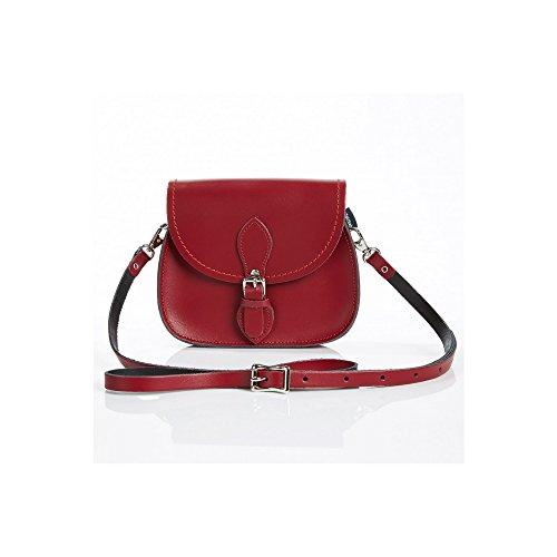Con Mano A Cierre Hecho Rojo Magnético Classic Mujer Zatchels Para Bolso Modelo Piel Oscuro De wxqwAa1