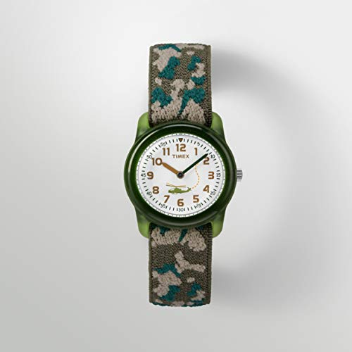 Timex Boys T78141 Time Machines Green Camo Elastic Fabric Strap Watch
