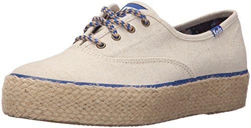 Keds Women's Triple Liberty Linen Fashion Sneaker, Natural, 8.5 M US