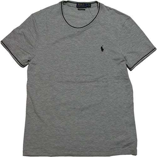 (Polo Ralph Lauren Men's Pony Logo Crew Neck T-Shirt (Medium, Grey Heather/Black Pony))