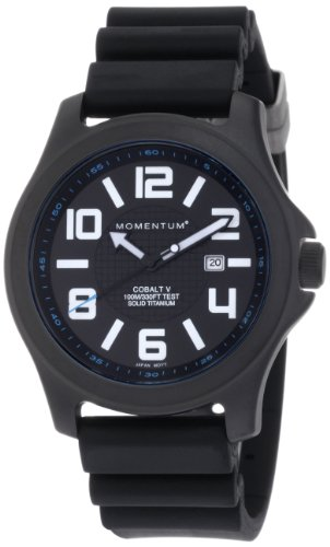 Momentum Men's 1M-SP06B8 Cobalt V Black Hyper Natural Rubber Watch