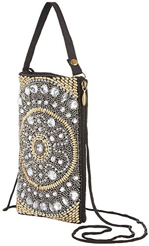 Bamboo Trading Company Cell Phone Club Bag, Silver Flower
