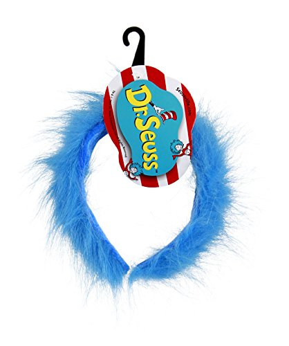 Dr. Seuss Thing 1 & 2 Blue Fuzzy Headband by elope (Cat In The Hat Thing 1)