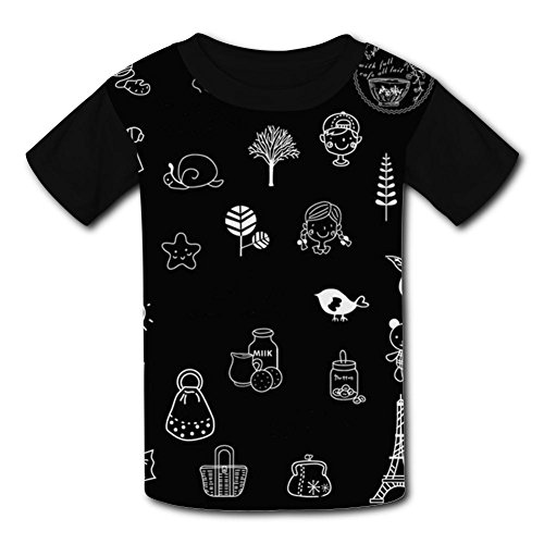 b620f82f21 PoEb Cartoon Kid T-Shirt Casual Print Roundneck Clothes XL