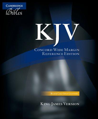 KJV Concord Wide Margin Reference Bible, Black Calf Split Leather, KJ764:XM ()
