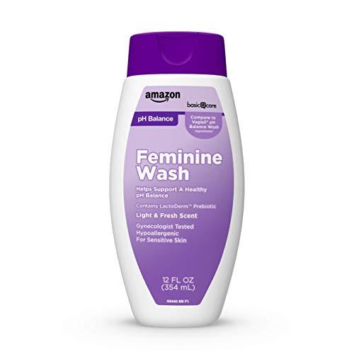 Amazon Basic Care pH Balance Feminine Wash, Light & Fresh Scent, 12 Ounces