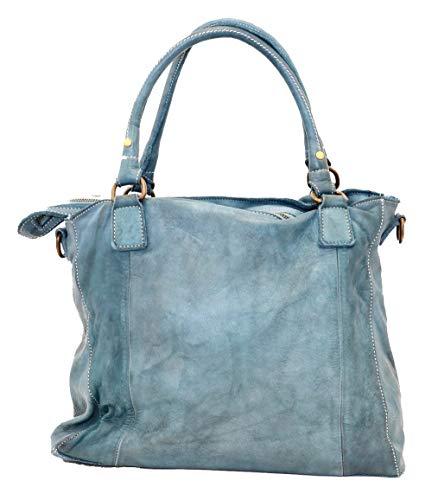 BZNA Bag Emy cognac Italy Designer dam läderväska handväska axelväska väska läder väska ny