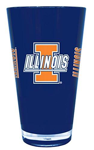 Illinois Fighting Illini 20 oz Insulated Plastic Pint Glass