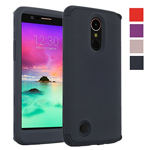 KAMII LG K20 V Case, LG K20 Plus Case, LG V5 Case, LG K10 2017 Case, ShockProof Hybrid Dual Layer Scratch Resistant High Impact Drop Protection Defender Armor Protective Bumper ()