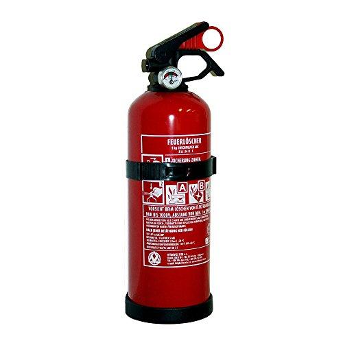 HTB 226210 Pulver-Feuerlöscher 1 kg, ABC, inklusive Halterung