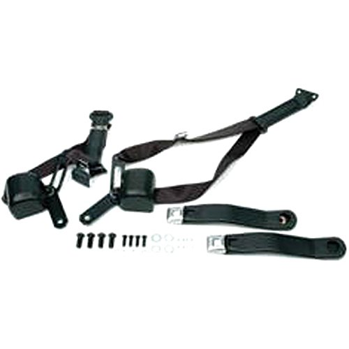 Eckler's Premier Quality Products 33188826 Camaro 3Point Retractable Shoulder Harness/Seat Belt Kit Morris Classic Concepts Black