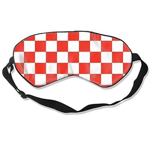 (Lightweight And Comfortable Eye Mask Eyeshade for Men Women Kids, Red And White Checkered Sleeping Mask for Sleep Shift Work Yoga, Machine Washable Relieve Eye)