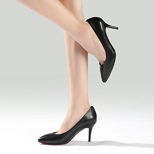 Tacones nine Thirty Mujer De Zapatos Slacker Cabezas Nueva Black Treinta SSBY Cm De Y Nueve Tacones Sharp 7 qwI11