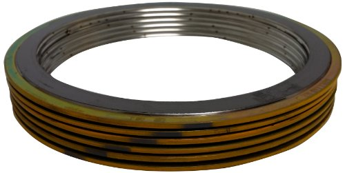 Sterling Seal & Supply SSS 90001500304GR300X6 Yellow Band with Gray Stripe Spiral Wound Gasket, High Temperature (Thermal Cycling) and/or Pressure Variations, 1-1/2'' Pipe Size, 300# Class Flange, 304SS Windings with a Flexible Graphite Filler (Pack of 6) by Sterling Seal & Supply, Inc. (STCC)