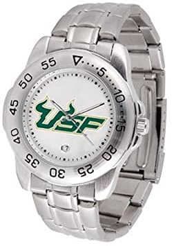 NCAA South Florida Bulls Men's Gameday Sport Watch with Stainless Steel Band by SunTime
