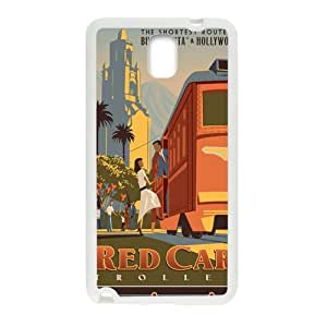 Happy Red Car Trolley Cell Phone Case for Samsung Galaxy Note3