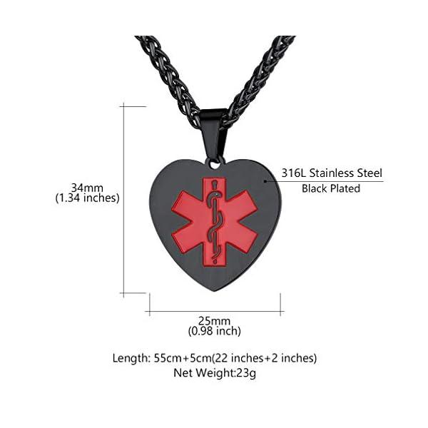 Custom4U Braccialetto di allerta medica, braccialetti Sos per uomo donna, braccialetti personalizzati per donna uomo… 4