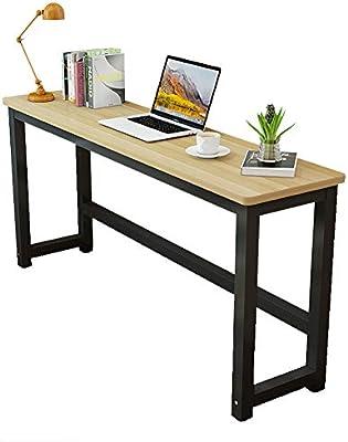 Escritorio para ordenador, mesa larga contra la pared, mesa ...